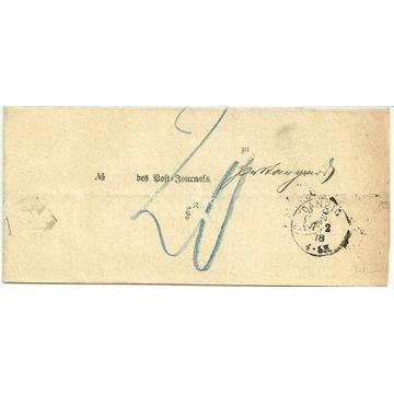 Danzig - Pr. Stargard , rok 1878