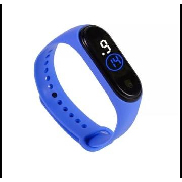 Zegarek silikonowy led sportowy opaska