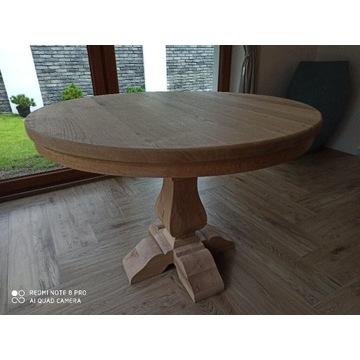 Stół dębowy lity dąb okrągły