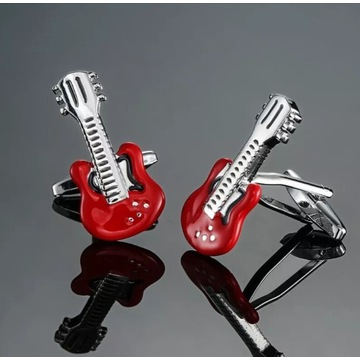 Spinki do mankietów, gitara, dj, muzyk
