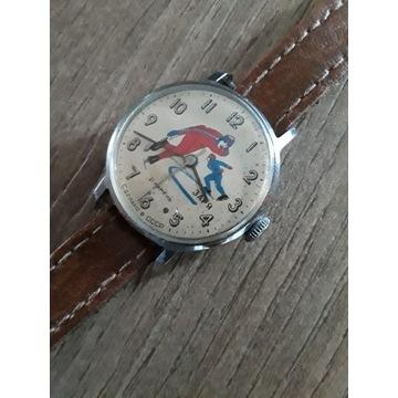Nakręcany rosyjski zegarek ussr z lat 80. ZARJA