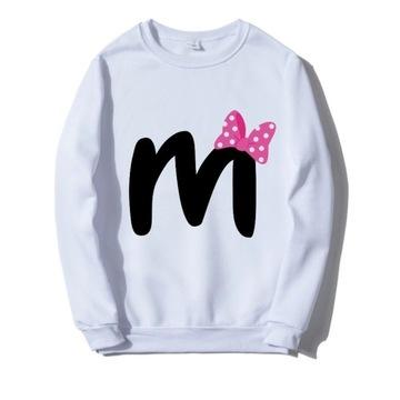 Bluza biała literka imię Minnie Mouse S-XXL