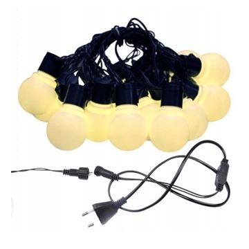 GIRLANDA LAMPKI OGRODOWE ZEWNĘTRZNE 38 LED 10m XL