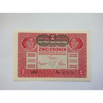 Austro - Węgry - 2 Korony - 1917 r.stan I