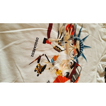 Koszulka DSQUARED rozmiar L biała