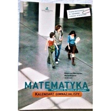 MATEMATYKA - kalendarz gimnazjalisty