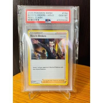 Pokemon TCG - Boss's Orders - PSA 10 - Karta MINT!