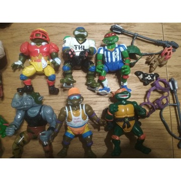 Figurki z serii Tmnt wojownicze żółwie ninja 80-90