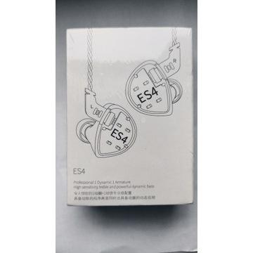 KZ Es4 słuchawki douszne 1BA + 1DD hifi Fiio