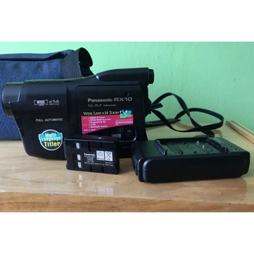 Kamera Panasonic RX 10 (slim, vhs, kasety)