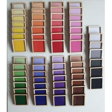 paleta barw w pudełku, montessori