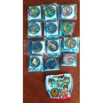 Zestaw 12 sztuk medali Yo-Kai Watch, seria2
