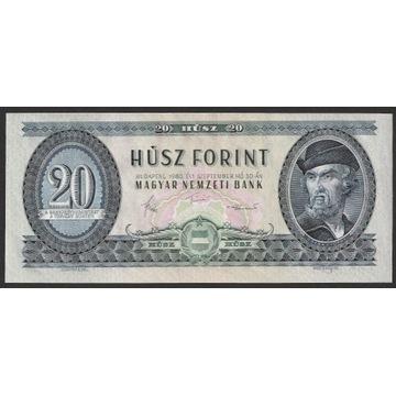 WĘGRY 20 FORINTÓW 1980 - DOZSA - C054 - STAN 1/2