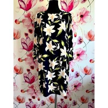 dorothy perkins sukienka modny wzór kwiaty roz.42