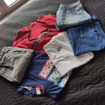 Zestaw markowych ubrań! Rozmiar M! Nike, Lacoste!