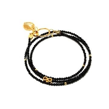 Naszyjnik z funkcją bransoletki czarny turmalin