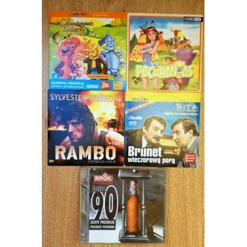 Zestaw 5 płyt DVD i CD