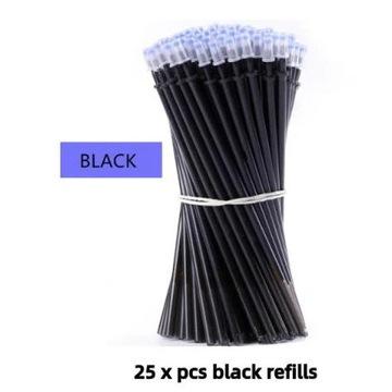 Czarne zmazywalne wkłady do długopisu 25 sztuk