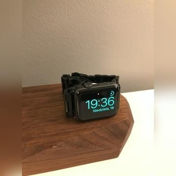 Apple Watch Series 3 GPS 42 mm + czarna bransoleta