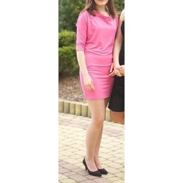 Wiosna Sukienka Top Secret różowa 34
