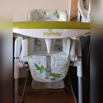 Krzesełko do karmienia dzieci baby desing