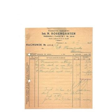 PRZEMYSŁ RADIOWY - WARSZAWA - N.ROSENGARTEN -1938r