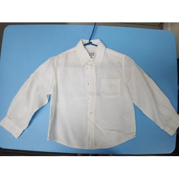 Armani Junior biała koszula lniana na 4 lata r.104