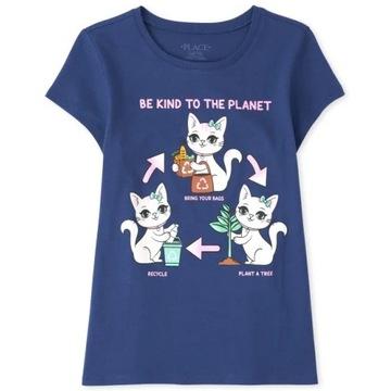 Childrens Place bluzeczka Glitter Cat 10-12lat