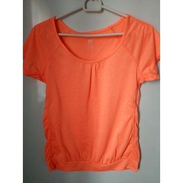 H&M pomarańczowa sportowa bluzka rS