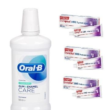 Płyn Oral-B + 3 pasty gratis Colgate Duraphat