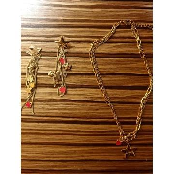 Komplet biżuterii Liu-Jo, kolor złota + akcenty