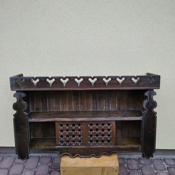 Drewniana półka wisząca kuchenna PRL