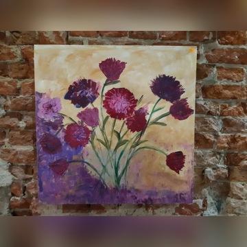 """obraz """"kwiaty"""" olej na płótnie"""
