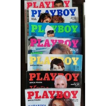 Playboy 1998 1999 2000 2002 - 13 sztuk