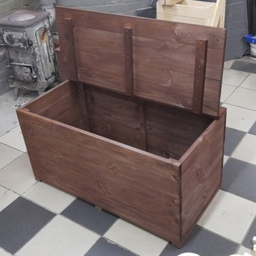 Skrzynia ogrodowa/Tarasowa drewniana 100x50 /Kufer