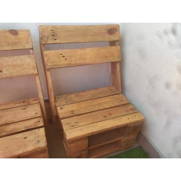 Krzesełka z palet