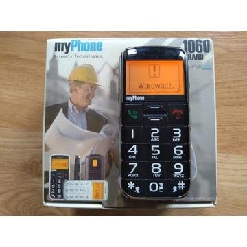 Myphone grand 1060 dla seniora + bateria , pudełko