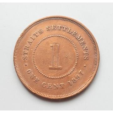 Straits Settlements 1 cent 1897