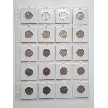 USA 25 cent dollar stany zestaw 56 monet 1999-2009