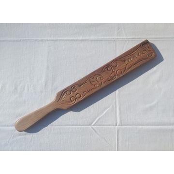 Packa drewniana - ręcznie rzeźbiona - heban makass