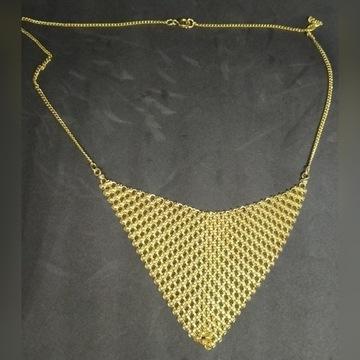 Elegancki naszyjnik imitacja złota