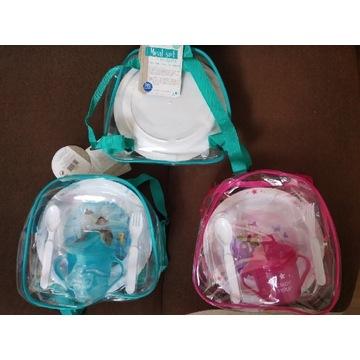 Zestaw naczyń dla dzieci w plecaku