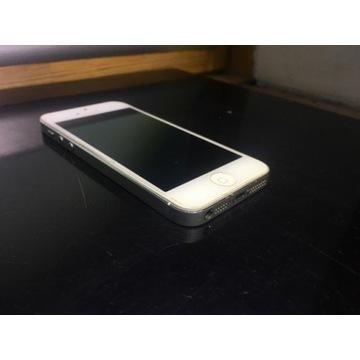 iPhone 5 16Gb silver super stan uszkodzona bateria