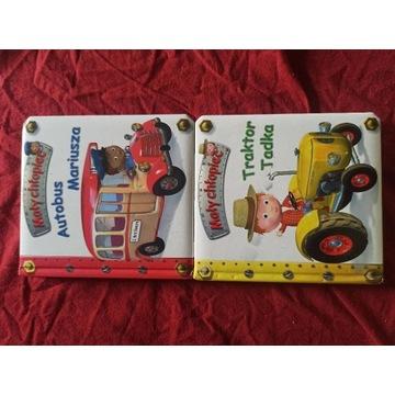 Mały chłopiec autobus Mariusza traktor Tadka
