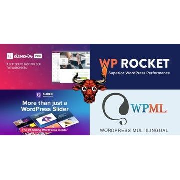Elementor Pro, WP Rocket, WPML i inne - Wordpress