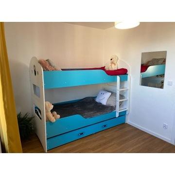 Łóżko piętrowe DOMINIK 200x90 dla dzieci MATERACE
