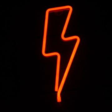 Neon LED Baterie/USB Lampka Piorun, na prezent!