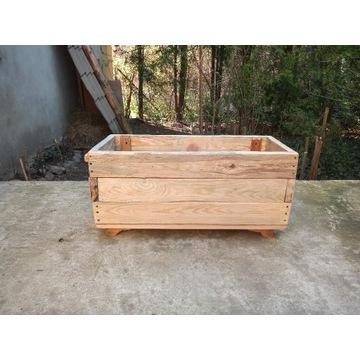 Donice ogrodowe drewniane