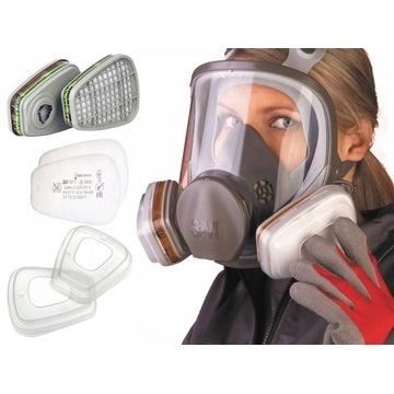 Maska całotwarzowa Seria 6000 3m 6900 + Gratisy