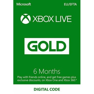 XBOX LIVE GOLD 6 MIESIĘCY KLUCZ KOD